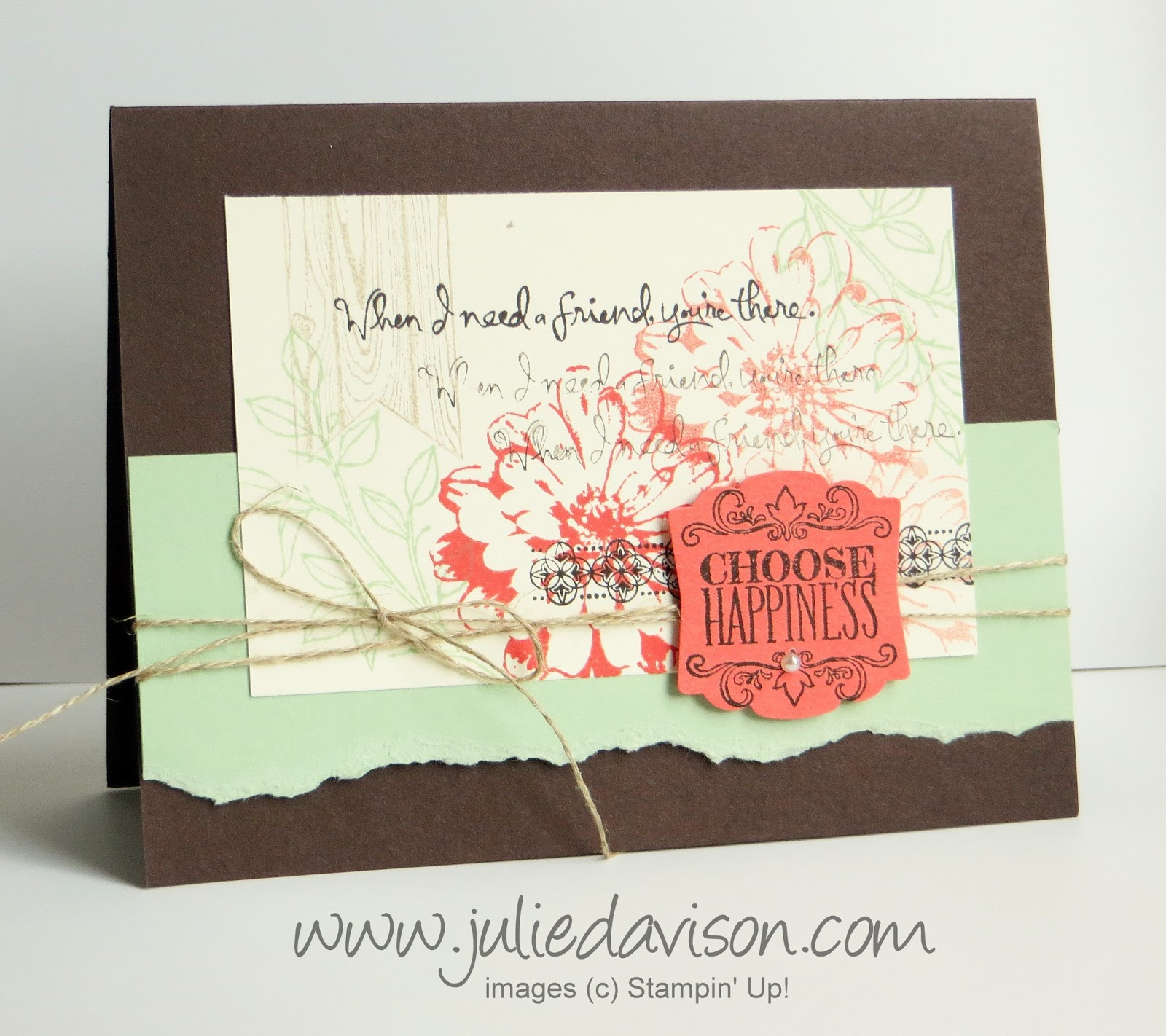 Stampin' Up! Choose Happiness Collage Card