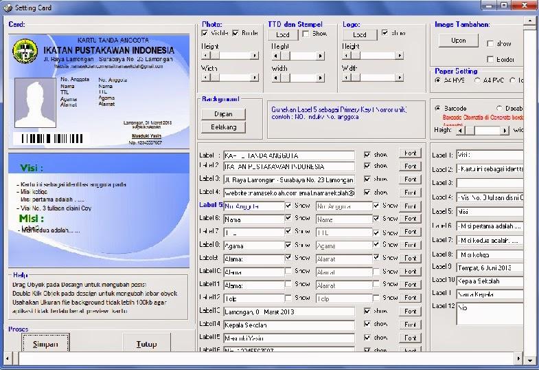 Software Kartu pelajar