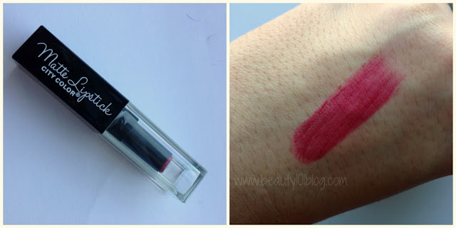 City Color Matte Lipstick Review