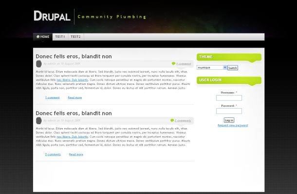 Free Drupal Colorful Business Black Theme Template