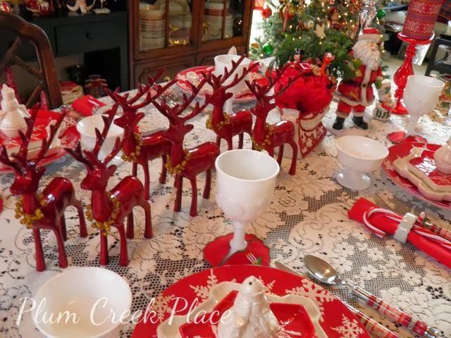 Santa's reindeer, tablescape