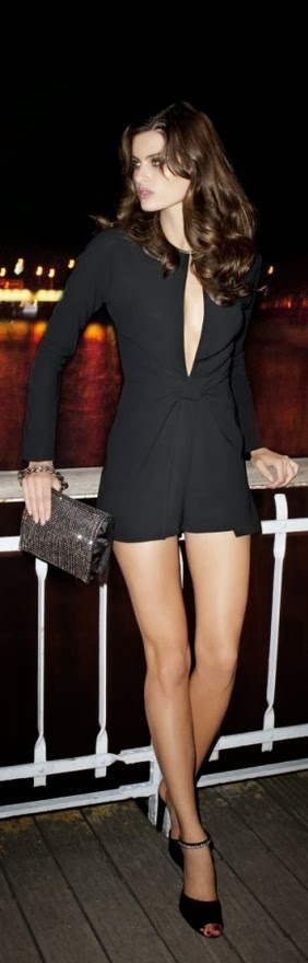 Black Long Sleeve Dress With Black Heel Shoes