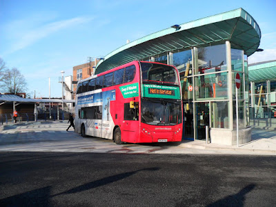The first bus to use the new Interchange