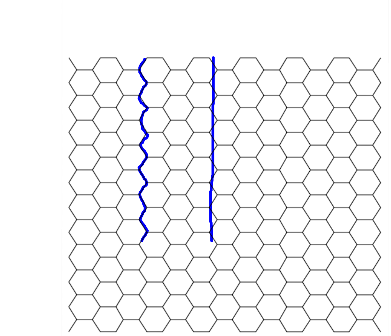 graphic about Printable Hexagon Grid identified as Hexagonal Grid