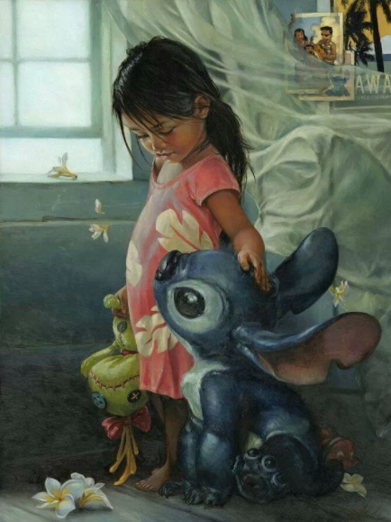 Awesome Oil Painting of Disney