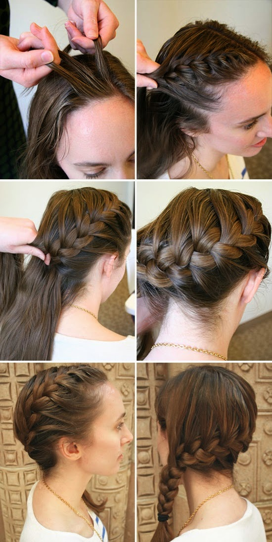 Braided Bangs Tutorial How Do Side French Braids Bangs.