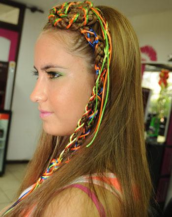 Trenzas para el carnaval belleza salud decoracion y for Decoraciones para el pelo