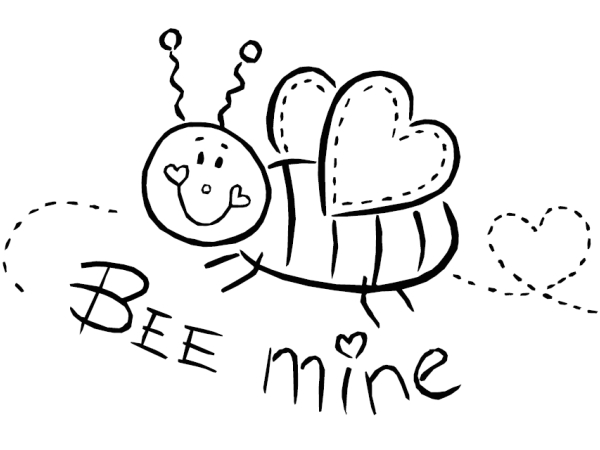 Coloring Pages For Kids Valentines : Be mine coloring pages