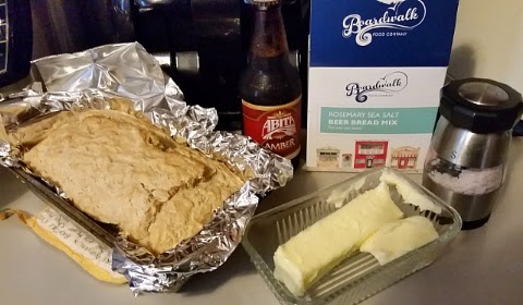 boardwalk food co rosemary beer bread and ingredients