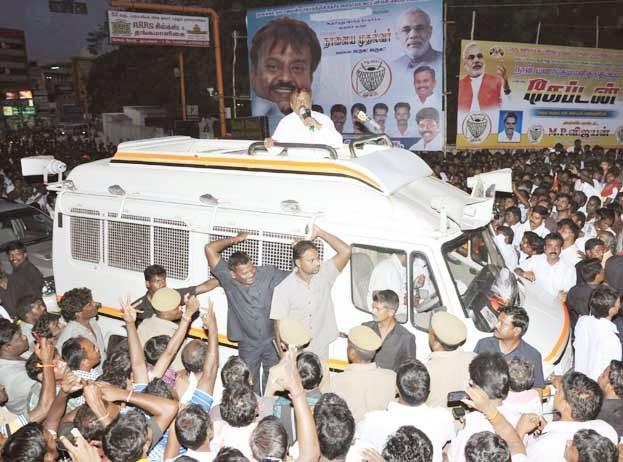 Vijayakanth Campaigning today