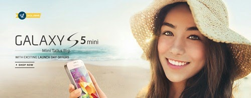 Buy Samsung S5 Mini : 4.5 inch Android Exclusively from Flipkart with Offers