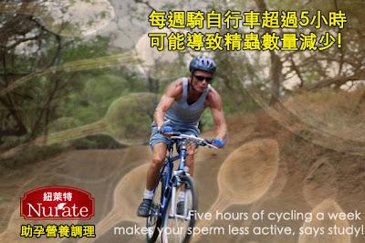 精蟲活動力,單車造成不孕,自行車精蟲數量,精蟲數量減少,男性助孕,男性不孕