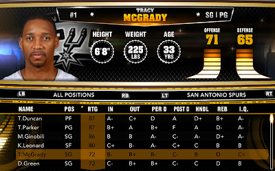 NBA 2K13 PC Roster T-Mac Spurs May 3, 2013