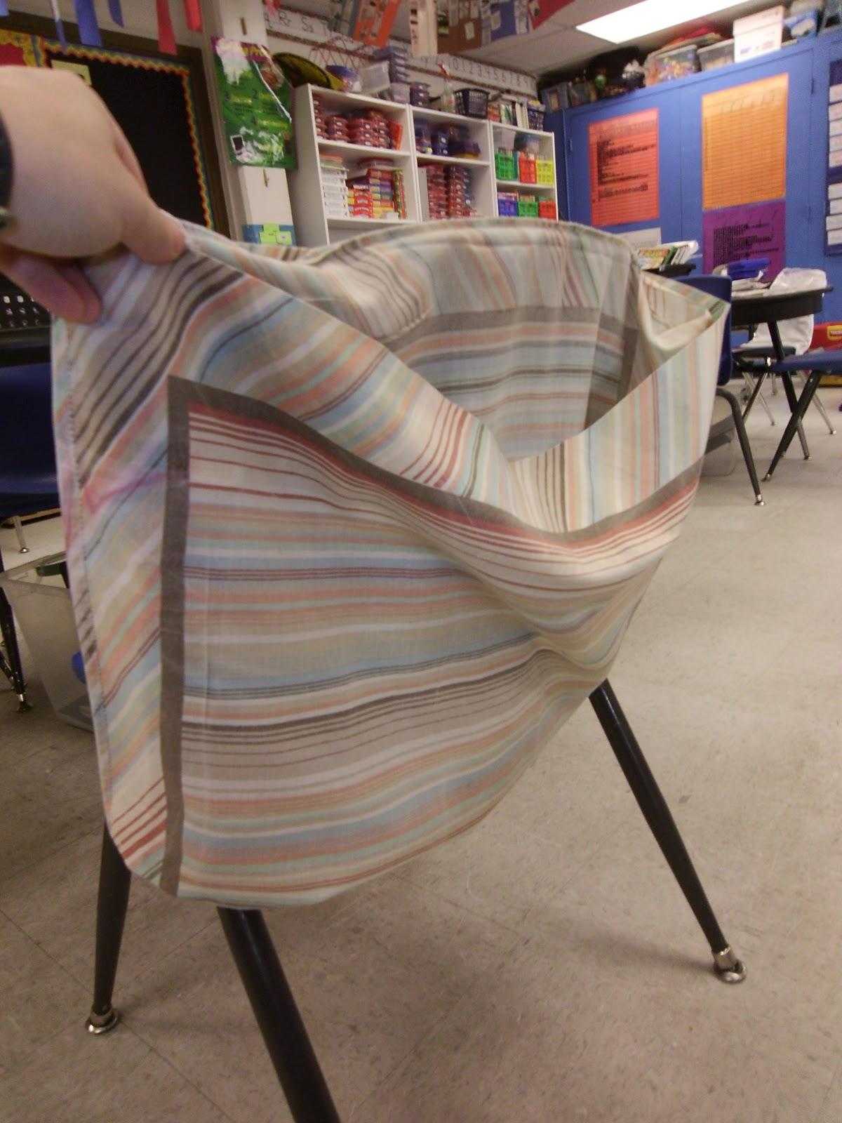 The Pinterest Diaries No Sew Pillowcase Chair Pockets
