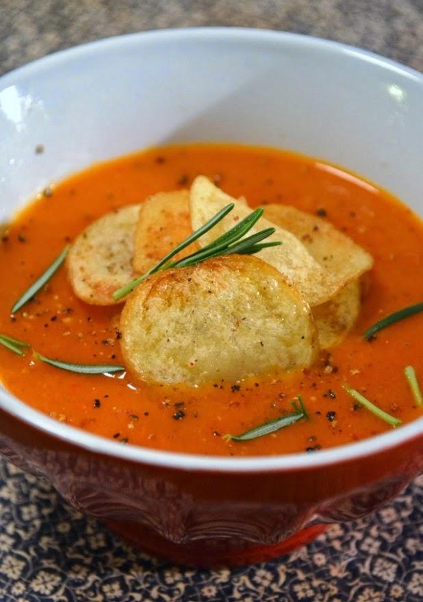 Sopa de Pimentão e Tomate (vegana)