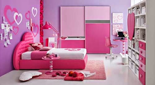 pink girl bedroom ideas with cool and romantic touch