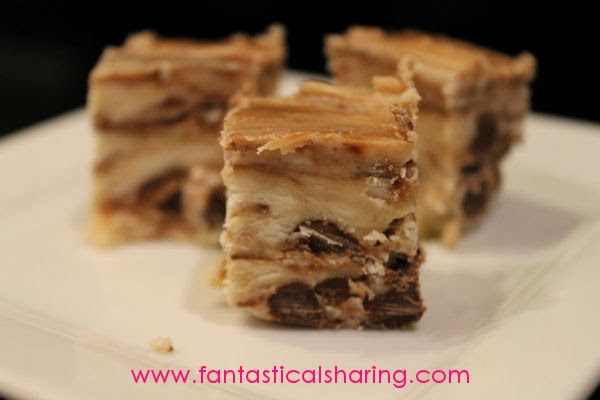 Chocolate Chip Cookie Dough Fudge | Safe-to-eat cookie dough mixed into rich vanilla fudge #dessert #SecretRecipeClub #recipe #candy #fudge