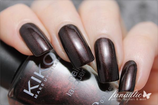 Kiko 374 - pearly chocolate noir