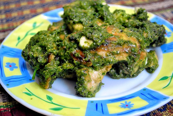Chicken in Pesto Sauce