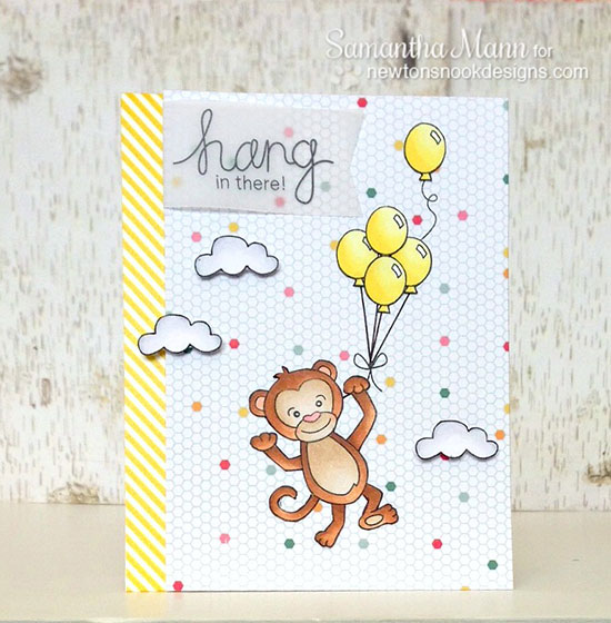 Hang in there Monkey card by Samantha Mann for Newton's Nook Designs | Hanging Around Stamp set