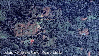 Peta lokasi kompleks candi muaro Jambi