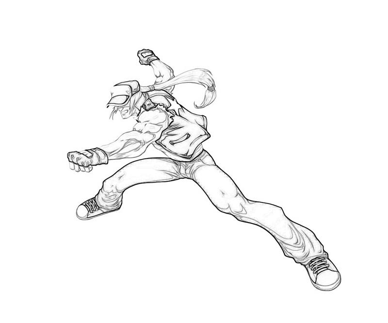 king-of-fighters-terry-bogard-skill-coloring-pages