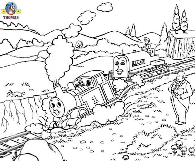 tank engine colouring pages to print Terence tractor caterpillar track title=