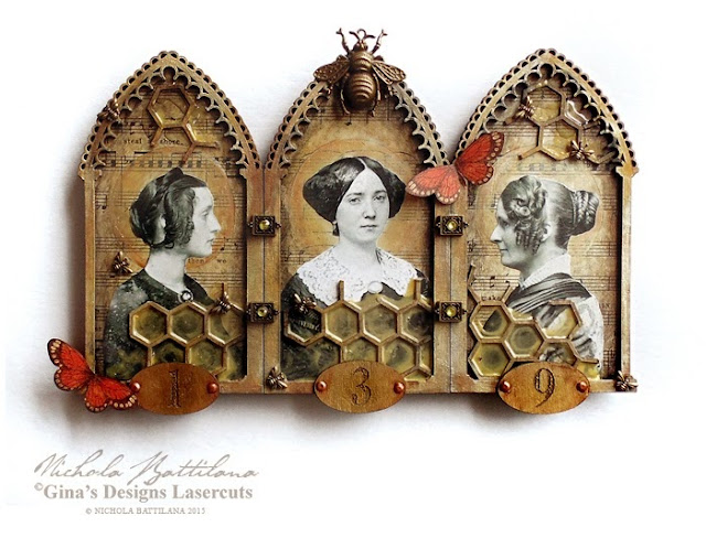 Of Summer & Bees Triptych with Tutorial - Nichola Battilana