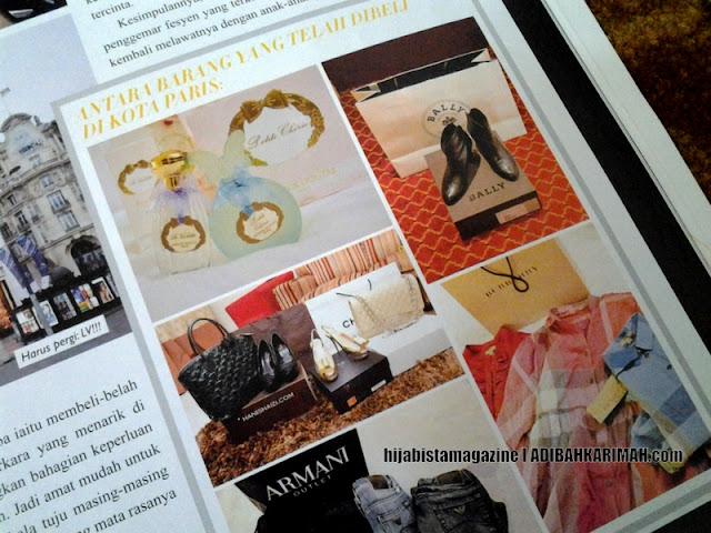 Koleksi barang mewah Hanis dalam hijabista magazine from Premium Beautiful