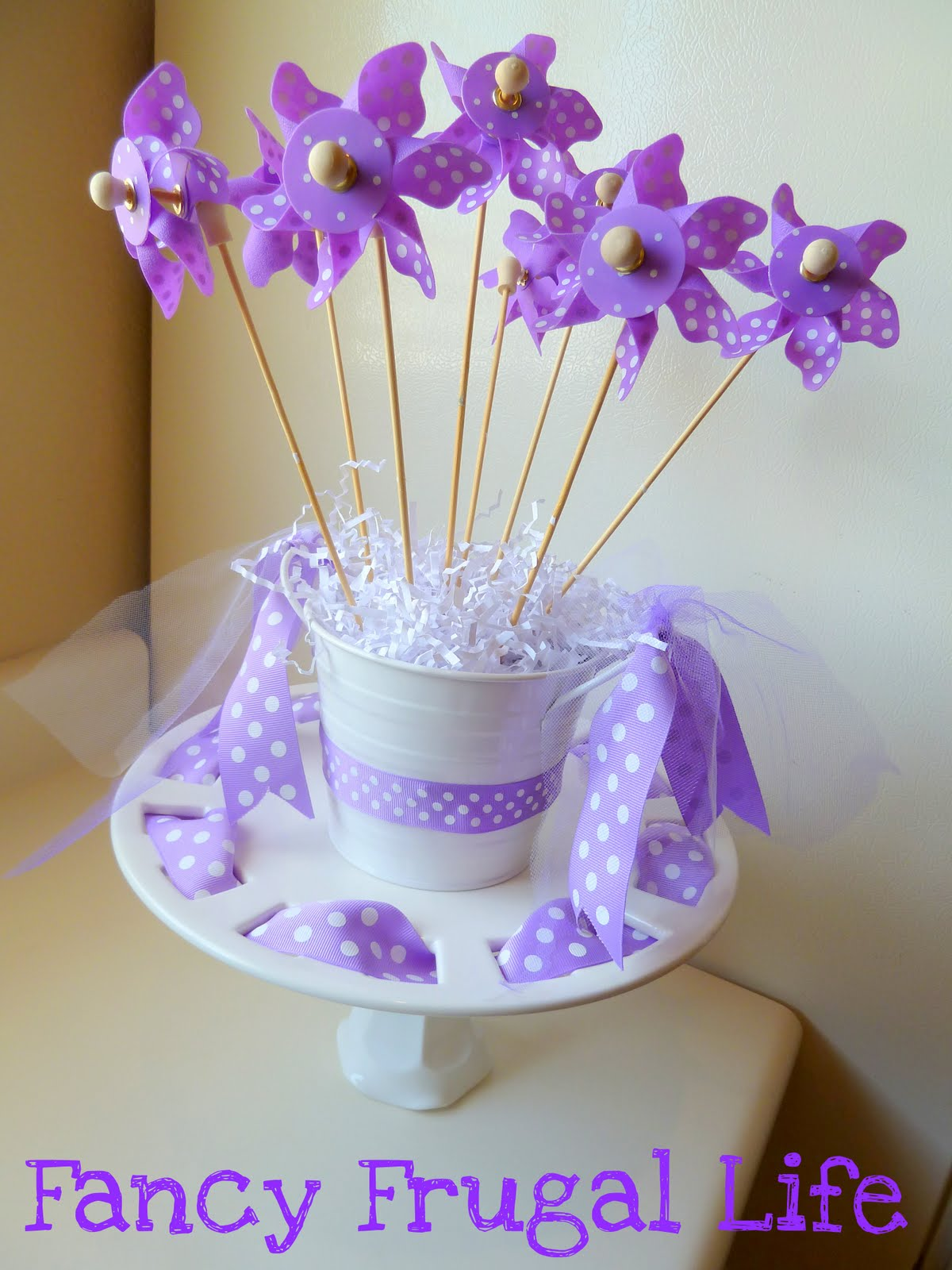 can either use it for food, or I thought my pinwheel bouquet looks ...