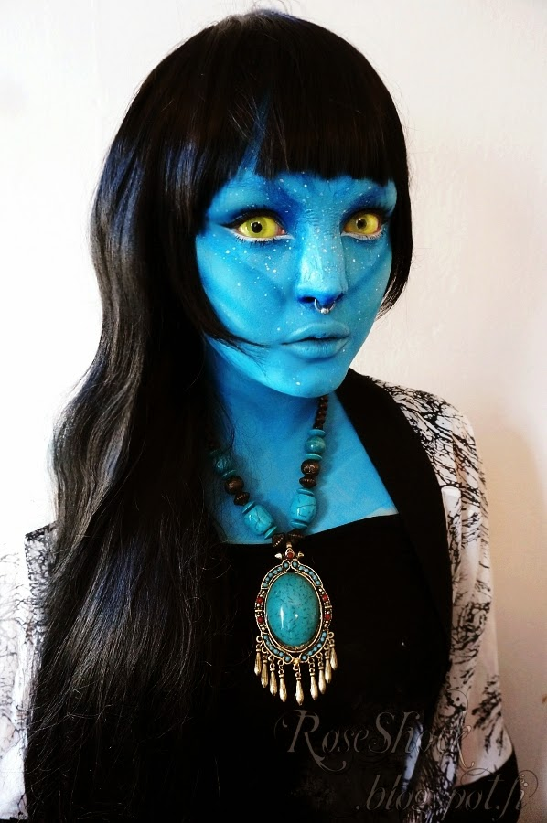 Avatar NA'VI Cosplay Lenses: UV Yellow Amazo Sclera Lenses