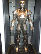 . military. Mark II suit featured in Tony Stark's Malibu beach house lab . (iron man markii suit)