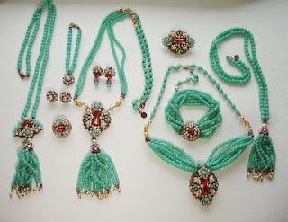 Miriam Haskell style jewelry Estonian designer