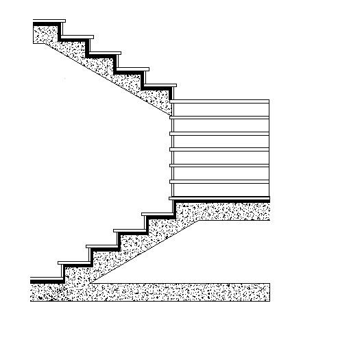 Escaleras de tres tramos con mesetas intermedias todo for Escaleras tres tramos