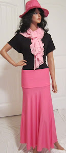 LDS Sister Missionary Solid Pink Jersey Knit Maxi Skirt in Stretch Jersey Knit