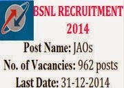 BSNLRecruitment2014 Junior Accounts Officers Post