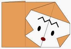 Bước 6: Vẽ mắt, mũi để hoàn thành cách gấp con khỉ bằng giấy origami đơn giản - a Monkey