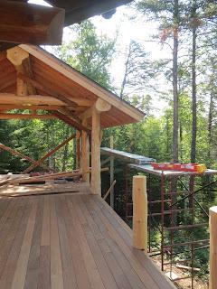 Log cedar cedar railing posts lake home ely gazebo huisman Ely MN