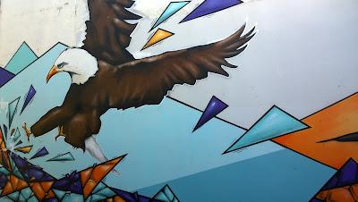 Reykjavik Mural Eagle