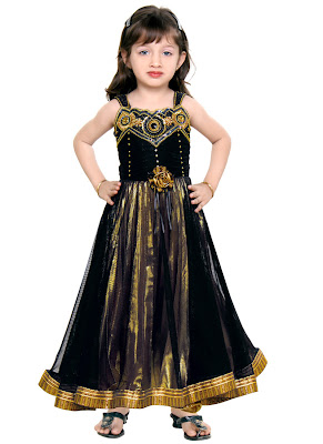 Picture of beautiful girl child in gorgeous dress
