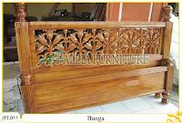 Tempat tidur kayu jati ukir jepara Bunga murah.Jakarta