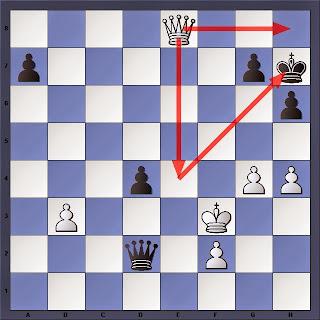 Échecs : Carlsen 1/2 Anand , la position finale de la partie 4