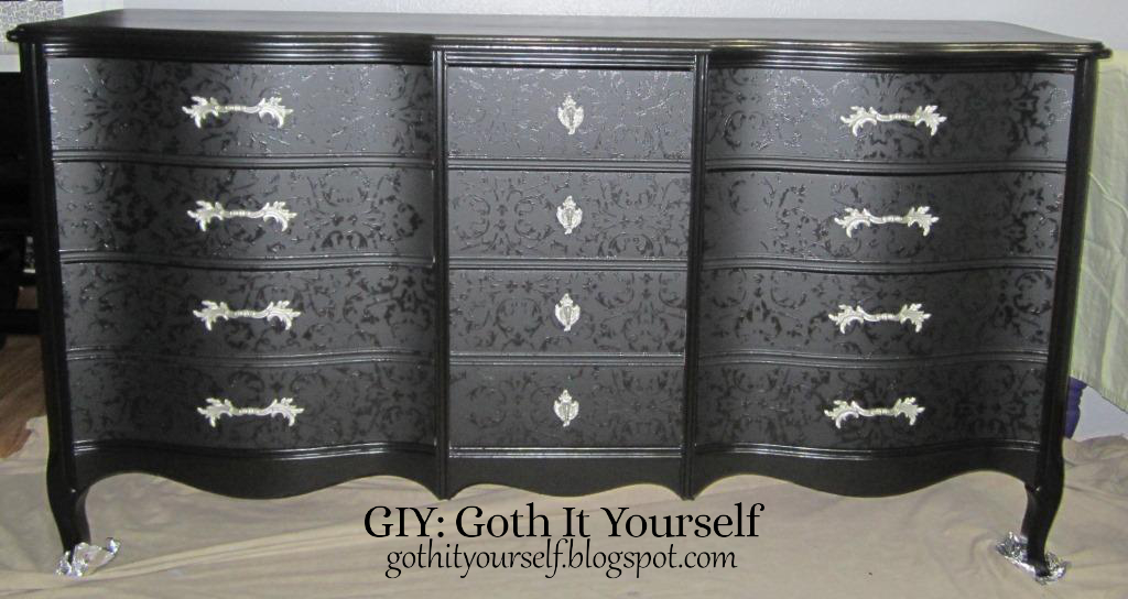 Giy Goth It Yourself Blackonblack Dresser Part 3rhgothityourselfblogspot: Gothic Dressers For Bedroom At Home Improvement Advice