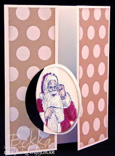 Santa's List Circle Thinlit Card by UK Stampin' Up! Demonstrator Bekka Prideaux