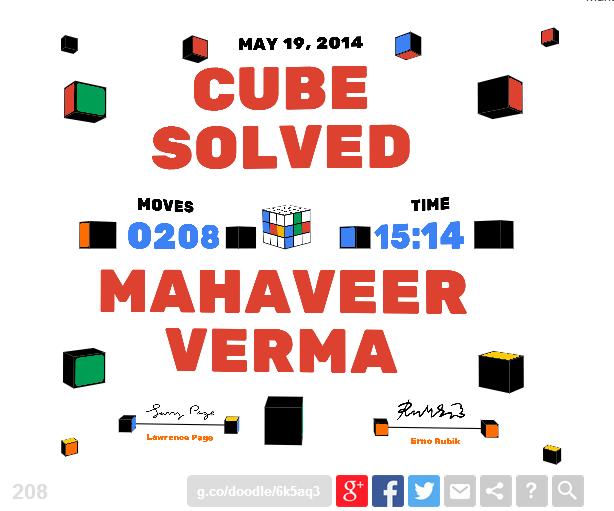 Google Rubik's Cube Doodle