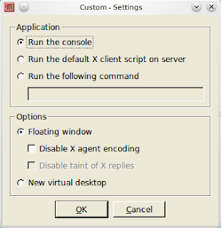 nxclient custom settings dialog