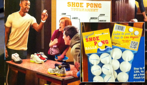 finish line ping pong ball promotion