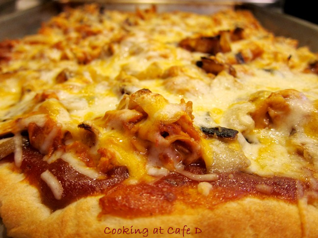 Tasty Leftovers - Our Easy 3 Cheese BBQ Pork Pizza