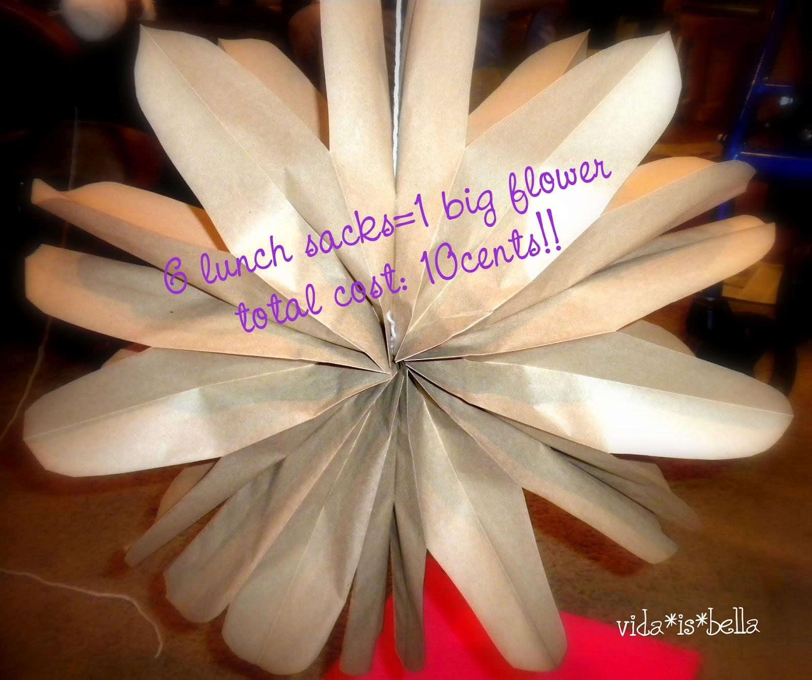 paper sack flowers tutorial