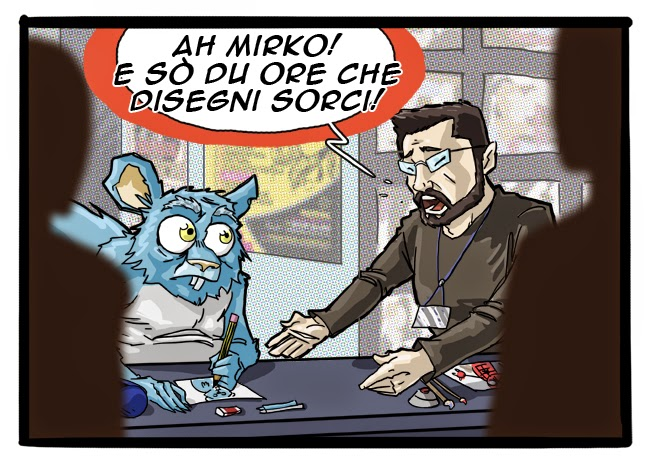 vignetta Lo Scorbiatto e Gabriele Dell'Otto